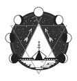 wigwam abstract tattoo design vector image