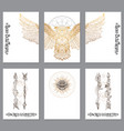 a set of cards with a style of boho posters for vector image vector image