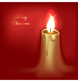 abstract christmas candle vector image vector image