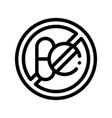 allergen free sign medicine thin line icon vector image vector image