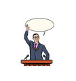 asian businessman or politician speaker speaking vector image vector image