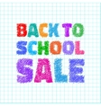 Back to school SALE on notebook background vector image vector image