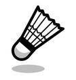 badminton shuttlecock racket sport ball logo line vector image