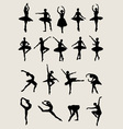 Ballet Female Dancers Silhouettes vector image vector image