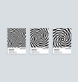 black and white cover design set with wavy lines vector image vector image