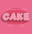 cake text effect vector image vector image