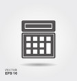 calculator icon flat logo vector image