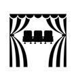 cinema theatre sits vector image vector image