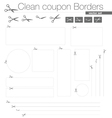 Clean coupon borders set vector | Price: 1 Credit (USD $1)