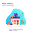 concept annual schedule modern conceptual for vector image vector image
