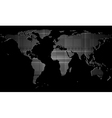 Dark design with map vector image vector image