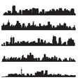detailed silhouettes world cities vector image vector image
