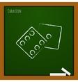 dice icon Eps10 vector image