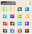 dishes bookmark icons vector image vector image