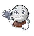 doctor snow globe chrismas isolated on mascot vector image