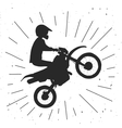 Enduro bike hand drawn vector image vector image