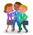 female teamwork vector image vector image