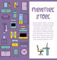 furniture interior store design vector image