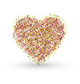 gold glitter heart sign sparkles isolated on white vector image vector image
