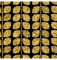 gold pattern floral texture with hand vector image