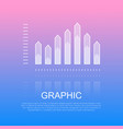 graphic transparent column chart with sharp edges vector image vector image
