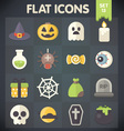 Halloween Universal Flat Icons Set 13 vector image