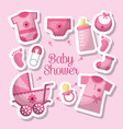 happy baby shower vector image vector image