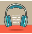 Headphones red vector image vector image