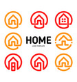 home logos outline style collection real vector image vector image