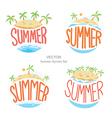 Island summer symbols set vector image
