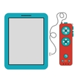 Isolated gamepad and tablet design vector image vector image
