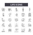 life line icons for web and mobile design vector image vector image
