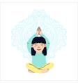 little girl doing yoga vector image vector image