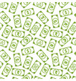 lot different bright green money banknotes vector image