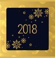 luxury golden 2018 new year background design vector image vector image