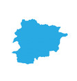 map of andorra high detailed map - andorra vector image vector image