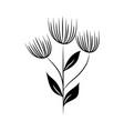 minimalist tattoo flowers leaves foliage herb vector image vector image