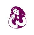 mom and baby symbol motherhood logo vector image