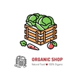 Organic farming Natural food logo isolated vector image vector image