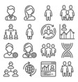 population people icons set on white background vector image vector image