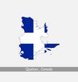 quebec canada map flag vector image vector image