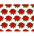 red rose flower pattern vector image vector image