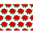 red rose flower pattern vector image