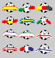 Ribbons of europe with football vector image