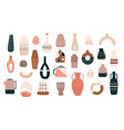 scandinavian vases ceramic jugs pots and teapots vector image