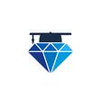 school diamond logo icon design vector image