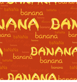 seamless pattern of bananas and letters vector image vector image