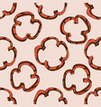 seamless pattern with hand drawn colored grilled vector image vector image