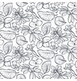 seamless pattern with hand drawn spring vector image vector image