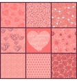 Seamless patterns Valentines Day vector image vector image